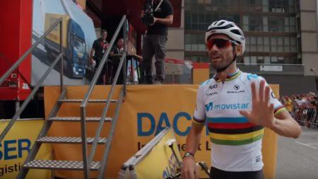 Alejandro Valverde en el documental de movistar team