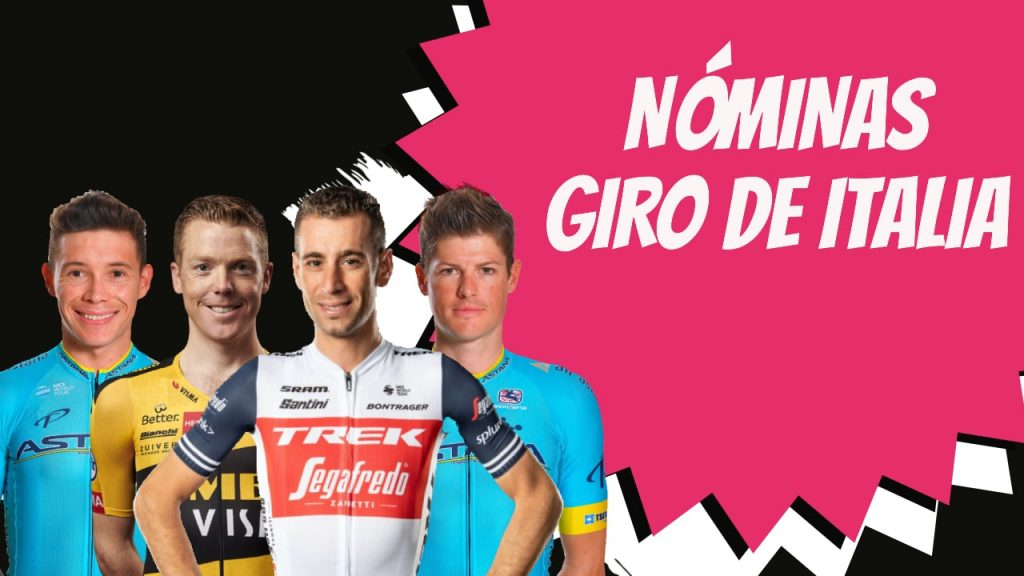 Nominas completas y ciclistas giro de italia 2020